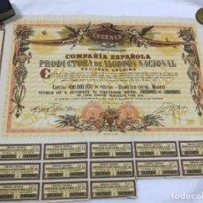 Coleccionismo Acciones Españolas: ACCION AL PORTADOR DE 1.000 PESETAS, CEPANSA, C.E.P. ALGODON NACIONAL, LA ALGODONERA DE CÓRDOBA 1959. Lote 261393470