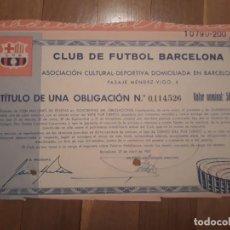 Coleccionismo Acciones Españolas: CLUB DE FÚTBOL BARCELONA (1957) . Lote 165253518
