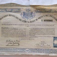 Coleccionismo Acciones Españolas: OBLIGACION HIPOTECARIA DEL EXMO SR. DUQUE DE OSUNA Y DEL INFANTADO 1881 MADRID Nº 051,544. Lote 165867994