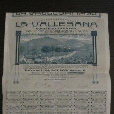 Coleccionismo Acciones Españolas: ACCION-CASTELLAR DEL VALLES-LA VALLESANA-AUTOMOVILES-AÑO 1914-VER FOTOS-(CARPB-101). Lote 166416514