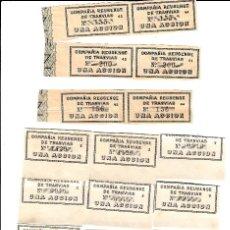 Coleccionismo Acciones Españolas: 18 CUPONES ACCION COMPAÑIA REUSENSE DE TRANVIAS - REUS. Lote 167013000