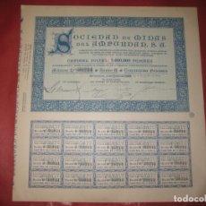 Coleccionismo Acciones Españolas: ACCION SOCIEDAD DE MINAS DEL AMPURDAN. BARCELONA 1923.. Lote 168276348
