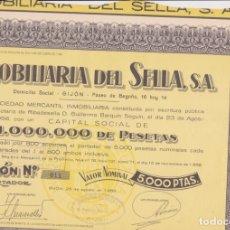 Coleccionismo Acciones Españolas: ACCIÓN DE INMOBILIARIA DEL SELLA S.A.. Lote 168384078