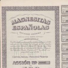 Coleccionismo Acciones Españolas: ACCIÓN DE MAGNESITAS ESPAÑOLAS. Lote 168384120