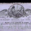 Coleccionismo Acciones Españolas: SOCIEDAD MINERA LA ATILANA. BILBAO 1901. Lote 168743672