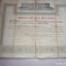 Coleccionismo Acciones Españolas: COMPAÑÍA DE LA NUEVA PLAZA DE TOROS DE BARCELONA. Lote 169660164