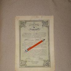 Coleccionismo Acciones Españolas: SOCIEDAD MINERA LA RESUCITADA ALGAR CARTAGENA MURCIA 1860. Lote 169771172