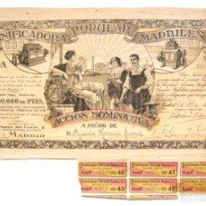Coleccionismo Acciones Españolas: PRECIOSA ACCION DE LA PANIFICADORA POPULAR MADRILEÑA AÑO 1916 ACCIONES MADRID. Lote 172180673