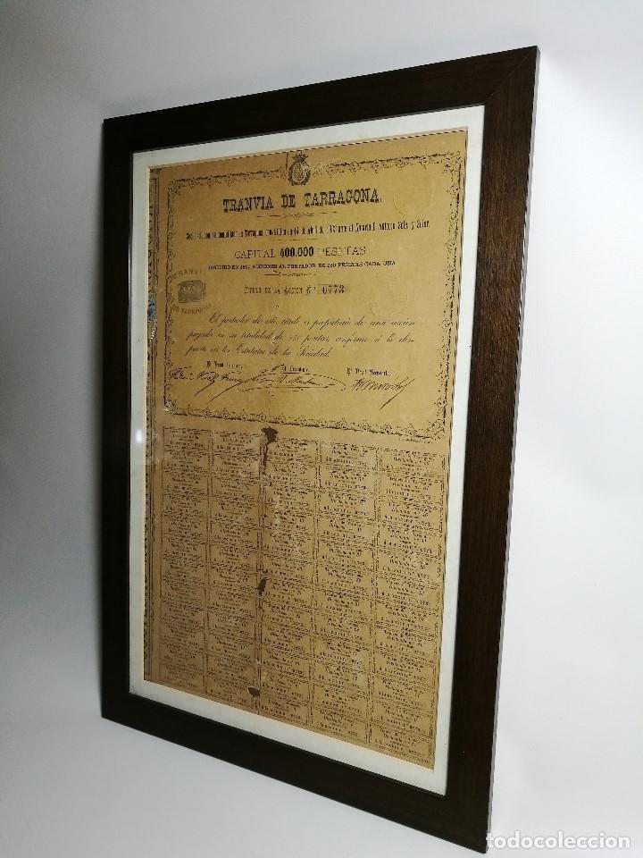 Coleccionismo Acciones Españolas: accion del TRANVIA TARRAGONA DE 1883 - Foto 4 - 172368469