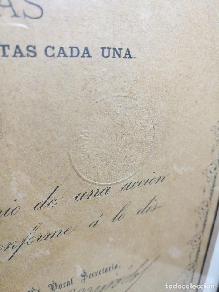 Coleccionismo Acciones Españolas: accion del TRANVIA TARRAGONA DE 1883 - Foto 10 - 172368469