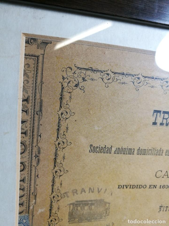 Coleccionismo Acciones Españolas: accion del TRANVIA TARRAGONA DE 1883 - Foto 11 - 172368469