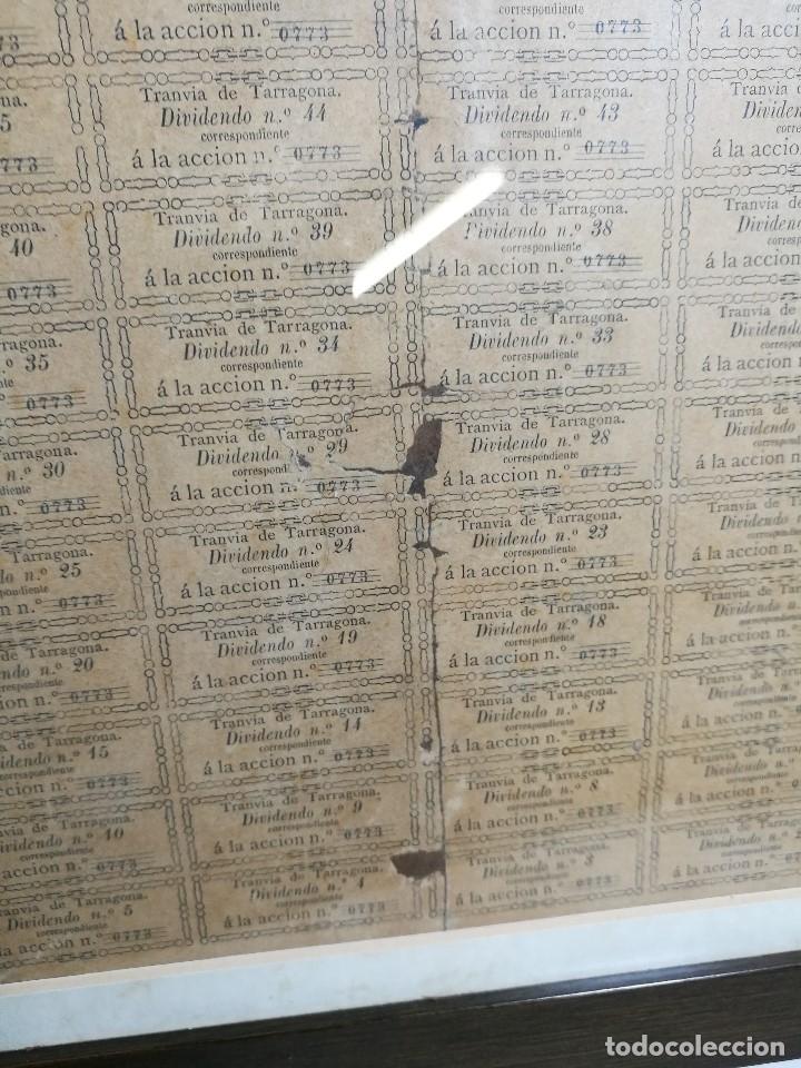 Coleccionismo Acciones Españolas: accion del TRANVIA TARRAGONA DE 1883 - Foto 13 - 172368469