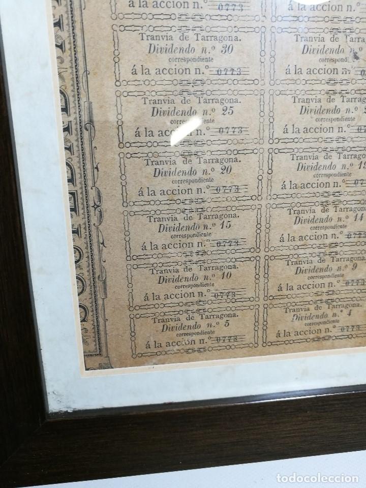 Coleccionismo Acciones Españolas: accion del TRANVIA TARRAGONA DE 1883 - Foto 14 - 172368469
