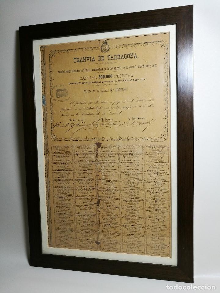 Coleccionismo Acciones Españolas: accion del TRANVIA TARRAGONA DE 1883 - Foto 15 - 172368469