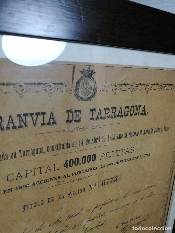 Coleccionismo Acciones Españolas: accion del TRANVIA TARRAGONA DE 1883 - Foto 19 - 172368469