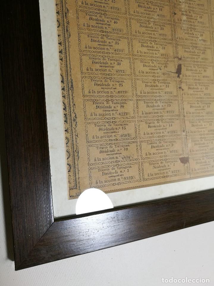 Coleccionismo Acciones Españolas: accion del TRANVIA TARRAGONA DE 1883 - Foto 27 - 172368469