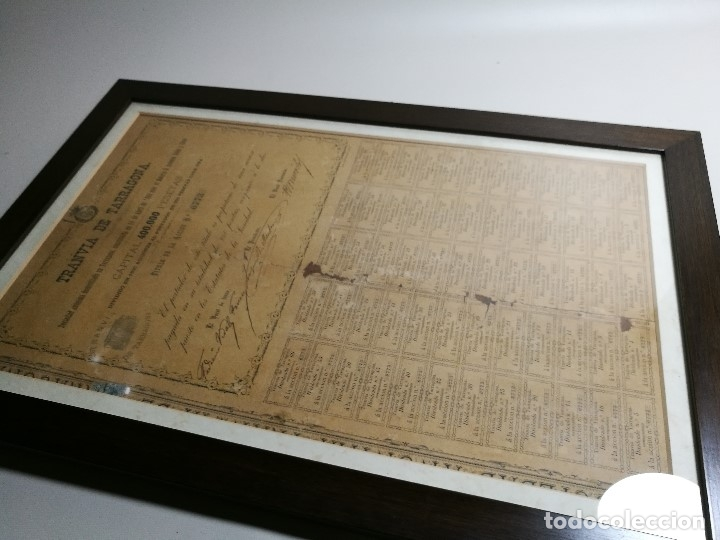 Coleccionismo Acciones Españolas: accion del TRANVIA TARRAGONA DE 1883 - Foto 28 - 172368469