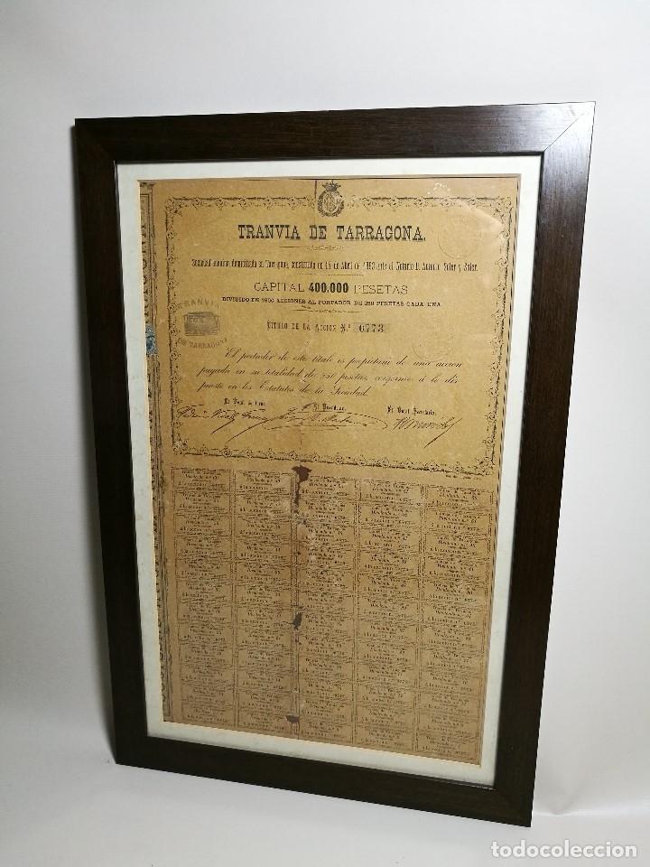 Coleccionismo Acciones Españolas: accion del TRANVIA TARRAGONA DE 1883 - Foto 29 - 172368469