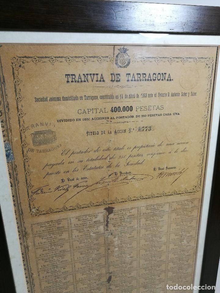 Coleccionismo Acciones Españolas: accion del TRANVIA TARRAGONA DE 1883 - Foto 31 - 172368469
