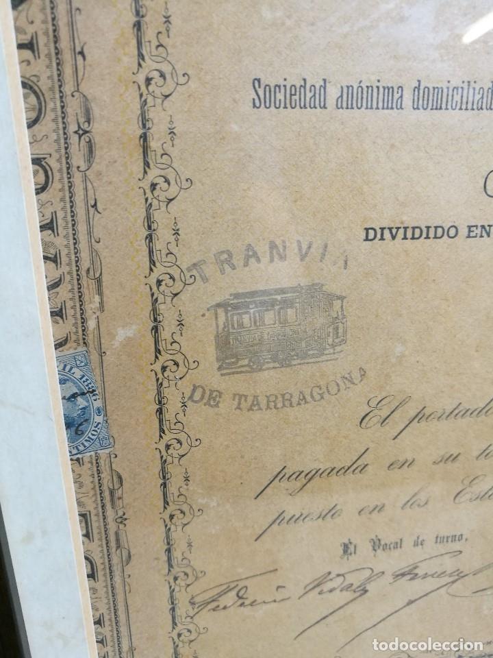 Coleccionismo Acciones Españolas: accion del TRANVIA TARRAGONA DE 1883 - Foto 32 - 172368469