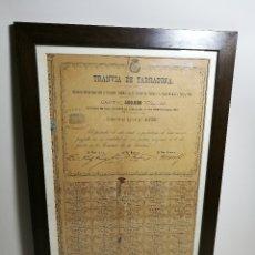 Coleccionismo Acciones Españolas: ACCION DEL TRANVIA TARRAGONA DE 1883. Lote 172368469