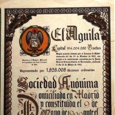 Collectionnisme Actions Espagne: EL ÁGUILA. Lote 218634278