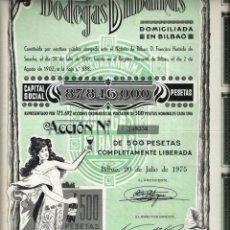 Coleccionismo Acciones Españolas: BODEGAS BILBAINAS. Lote 175227053
