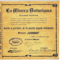 Collectionnisme Actions Espagne: LA MINERA ASTURIANA S. A.. Lote 257316480