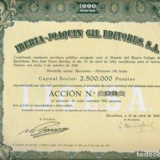 Coleccionismo Acciones Españolas: IBERIA - JOAQUIN GIL EDITORES, S. A.. Lote 175624693