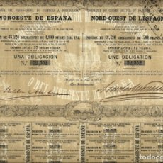 Collectionnisme Actions Espagne: COMPAÑÍA DEL FERRO-CARRIL DE PALENCIA Á PONFERRADA. Lote 175751978