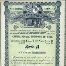 Coleccionismo Acciones Españolas: HULLERA CATALANA - LEONESA, S. A.. Lote 175760477