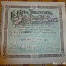 Coleccionismo Acciones Españolas: LA FAMA INDUSTRIAL HARINO PANADERA ACCION 1000 PESETAS 1919 MADRID. Lote 175864430