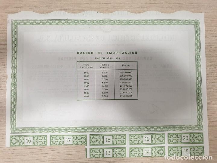 Coleccionismo Acciones Españolas: ACCIONES - HIDROELÉCTRICA DE CATALUÑA, S.A. - 1979 - Foto 2 - 176160285