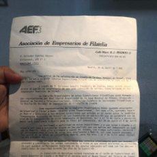 Coleccionismo Acciones Españolas: CERTIFICADO EMPRESA FILATELIA 1982 ORIGINAL - LEER LA DESCRIPCIÓN. Lote 177181052