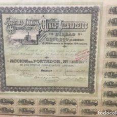 Coleccionismo Acciones Españolas: ACCION DE LA SOCIEDAD ANONIMA MINAS DE ALCARACEJOS - BILBAO 1898 - 42X35CM. Lote 177471209