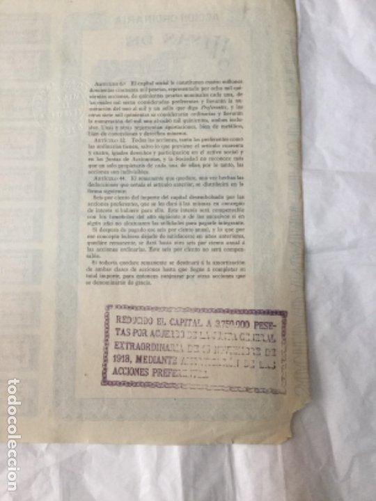 Coleccionismo Acciones Españolas: ACCION ORDINARIA DE MINAS DE TEVERGA - BILBAO 1904 - CON CUPONES - 37,5x26,5cm - Foto 2 - 177567938