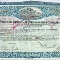 Coleccionismo Acciones Españolas: F. C. BARCELONA - MARTORELL - MANRESA - BERGA - GUARDIOLA. Lote 178809750