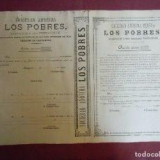 Coleccionismo Acciones Españolas: ACCION MINERA. LOS POBRES.CARTAGENA, 1889.. Lote 182623767