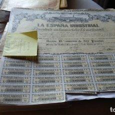 Coleccionismo Acciones Españolas: ACCIÓN DE LA ESPAÑA INDUSTRIAL FABRIL Y MERCANTIL DE 1973. Lote 183077457