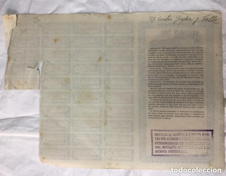 Coleccionismo Acciones Españolas: MINAS DE TEVERGA - BILBAO 1904 - CON CUPONES - 37x26,5 - Foto 2 - 183413477