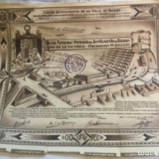 Coleccionismo Acciones Españolas: DEUDA MUNICIPAL UNIFICADA DEL AYUNTAMIENTO DE BILBAO - 1939 - 33X26CM. Lote 184087016