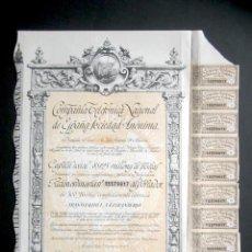 Collectionnisme Actions Espagne: AÑO 1959. ACCIÓN COMPAÑÍA TELEFÓNICA NACIONAL DE ESPAÑA. MADRID. CON CUPONES.. Lote 188664071