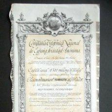 Colecionismo Ações Espanholas: AÑO 1957. ACCIÓN COMPAÑÍA TELEFÓNICA NACIONAL DE ESPAÑA. MADRID.. Lote 239445245