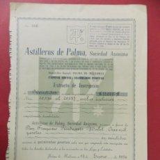Coleccionismo Acciones Españolas: ACCION - ASTILLEROS DE LA PALMA - PALMA DE MALLORCA - 17 ENERO 1956 - .. L506. Lote 190021338