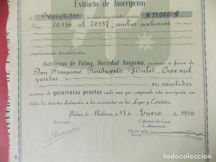 Coleccionismo Acciones Españolas: ACCION - ASTILLEROS DE LA PALMA - PALMA DE MALLORCA - 17 ENERO 1956 - .. L506 - Foto 3 - 190021338