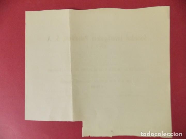 Coleccionismo Acciones Españolas: ACCION - SOCIEDAD INVESTIGADORA PETROLIFERA - SIPSA - MADRID - AÑO 1959 .. L511 - Foto 3 - 190024726