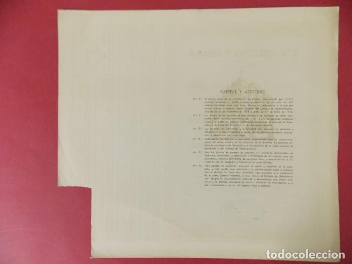 Coleccionismo Acciones Españolas: ACCION - S.A CREDITO Y OBRAS , EMPRESA CONSTRUCTORA - BARCELONA - AÑO 1947 .. L512 - Foto 3 - 190024906