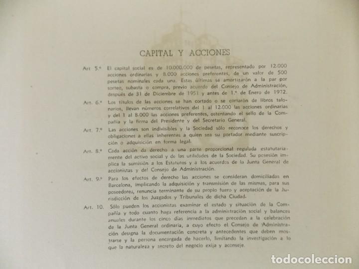 Coleccionismo Acciones Españolas: ACCION - S.A CREDITO Y OBRAS , EMPRESA CONSTRUCTORA - BARCELONA - AÑO 1947 .. L512 - Foto 4 - 190024906