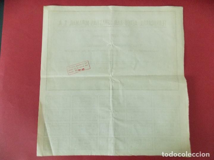 Coleccionismo Acciones Españolas: ACCION - FERROCARRIL AEREO SAN SEBASTIAN - MIRAMAR - AÑO 1929 - .. L520 - Foto 4 - 190063095