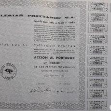 Coleccionismo Acciones Españolas: ACCIÓN GALERÍAS PRECIADOS (EL CORTE INGLÉS) 1975. Lote 241308210